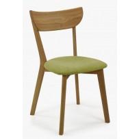 Jedálenská dubová stolička,Eva zelená