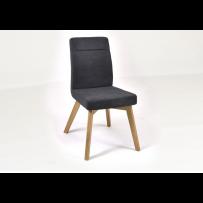 Antracitová stolička do jedálne čalúnená, Bela 46