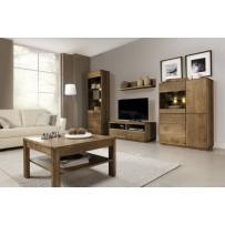 Obývačka z dreva (helsinki1) možnosť farby prírodný svetlý olej alebo dub páleny