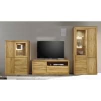 Dubový nábytok do obývačky - 100 % masív