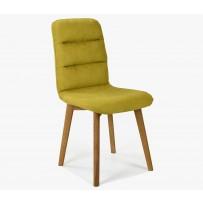 Stolička do jedálne, veľmi pohodlná - žltá látka