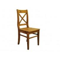 Pevná drevená stolička z masívu farba hnedá