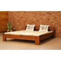 Kvalitná drevená posteľ 200 x 200 farba orech