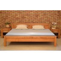 Manželská posteľ z masívu 200 x 200, Model L 5 , farba gaštan