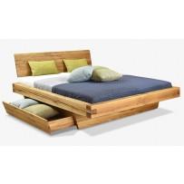 Pevná manželská posteľ z dubového dreva