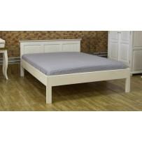 Biela manželská posteľ provence