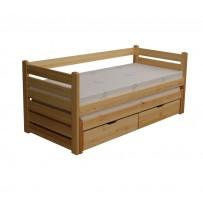 Celodrevená posteľ s výsuvným lôžkom