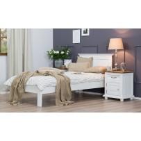 Biela posteľ z dreva 90 x 200
