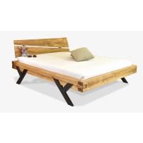 Moderná dubová manželská posteľ do spálne