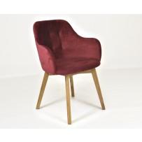 Dizajnová retro stolička červená