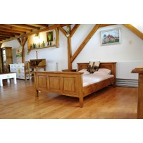 Rustikálna drevená posteľ Lux 120 x 200
