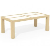 Moderný jedálenský stôl 160 x 80 sklo