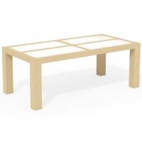 Moderný jedálenský stôl 200 x 100 sklo
