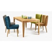 Luxusný dubový jedálenský set AVIGNOX + Stolička Ján (Rozkladací stôl)