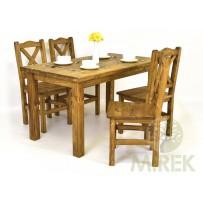 Jedálenská súprava, stôl 140 x 80 cm alebo 160 x 80 , stolička 4 resp 6 ks