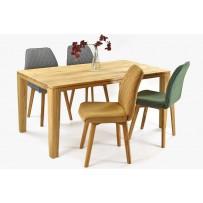 Zaoblený jedálenský stôl YORK a pohodlná stolička natália / výber farby /