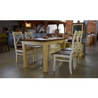 Jedálenský stôl a stoličky ( francúzsky štýl bývania ) 180 x 90