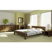 Drevená posteľ 120 x 200 orech, model L 5