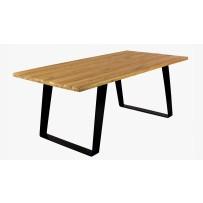 Stôl do jedálne , kovové nohy