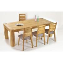 Rodinný stôl + pevné stoličky z dreva