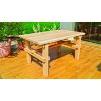 Drevený, dubový stôl nie len do záhrady