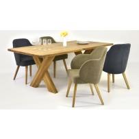 Stôl a stoličky do jedálne pre 4/6/8 osôb (možnosť výberu farby stoličky)