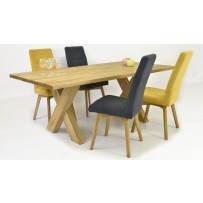 Jedálenský set z masívu 200 x 100 stol X+tina (možnosť výberu farby stoličky)