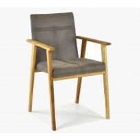 """Dizajnová retro stolička """" Alina Tauper """" Hera taupe 3101"""