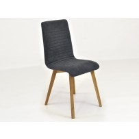 Moderná dubová antracitová stolička, arosa
