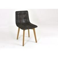 Jedálenska dubová stolička Leonardo - Chocolate