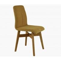 Pevná stolička do jedálne , horčicovo žltá