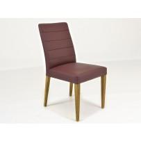Bordová kožená stolička