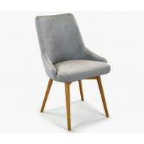 Elegantná čalúnená stolička Laura sivá
