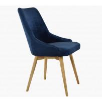 Jedalenská stolička zamatovo modrá