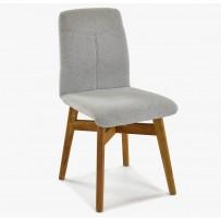 Kvalitná stolička do jedálne, sivá látka