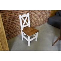 Jedálenská stolička biela  z masívu S02