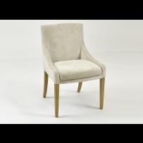Dubová stolička svetlá látka, 2034