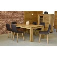 Dubový jedalenský set stoličky pravá koža