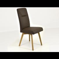 Pevná kožená stolička do jedálne