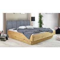 Masívna posteľ s úložným priestorom a látkovým čelom (Toledo A 180 x 200)