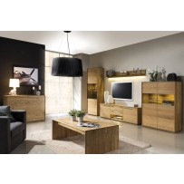 Dubový nábytek do obývacího pokoje