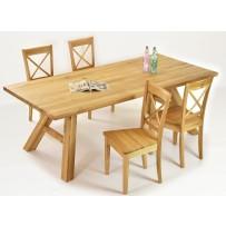 Pevný dubový stôl masív, dubová stolička vidiecká