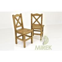 Vidiecka stolička z dreva