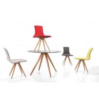 Stôl okrúhly retro - rozmer 107 cm