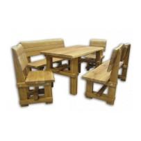 Záhradné drevené sedenie (Igi extra 150 , 1+2+2kreslá) Hrúbka masívu 4,5 cm