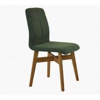 Stolička do jedálne , pevná dubová konštrukcia - zelená látka