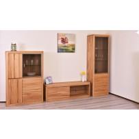 Bukový nábytok do obývačky, (100 % masív, zľava 50 %)