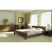 Moderná posteľ L 5 - (100 x 200) farba-orech