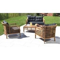 Exkluzívne záhradné sedenie z  dreva pre 4 osoby
