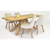 Luxusný jedálenský stôl Massive - Karol(pohodlné dizajnové kreslo LARA 4x )